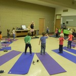 One of many yoga classes this year