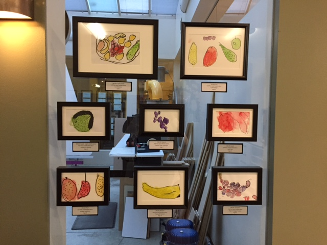 The 'fruits' of our preschoolers' hard work for 2017 Art Show